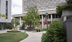 The Herman B Wells Library building.